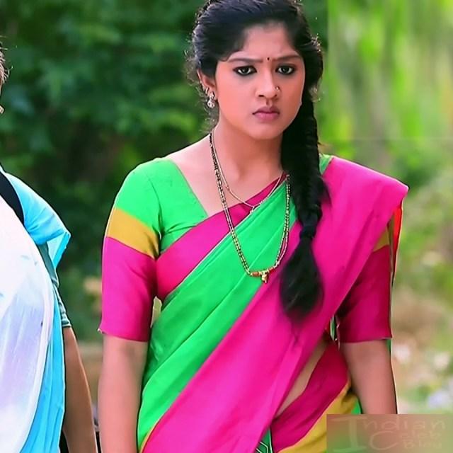 Meghana Shankarappa Kannada TV actress Kinnari S2 8 hot saree photo