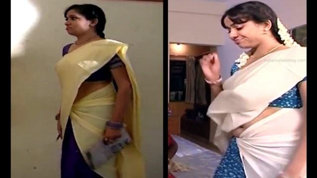 Minnal Deepa Tamil TV actress PonDTS1 1 hot saree navel photos