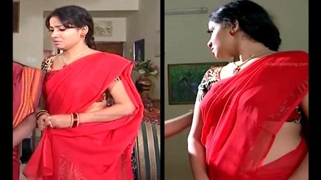 Minnal Deepa Tamil TV actress PonDTS1 6 hot saree pics