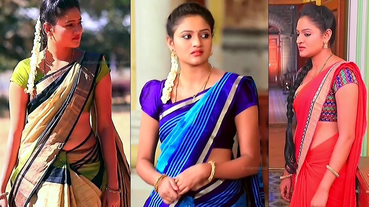 Ranjani Raghavan sexy midriff navel in saree, hd tv caps