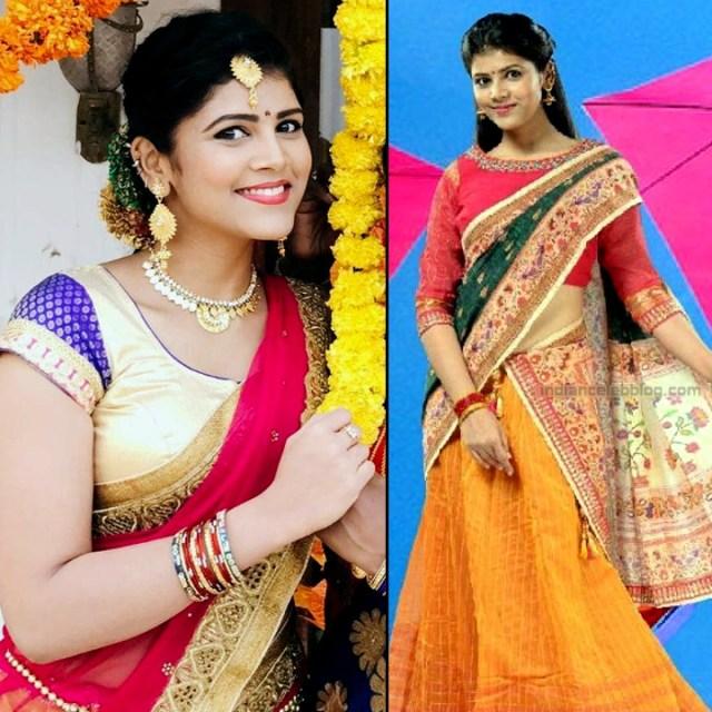Sangeetha Kamath shravya karthika deepam actress 15 hot saree photo