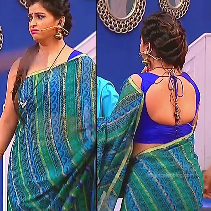 Shwetha Chengappa Kannada TV actress 2 hot saree pics