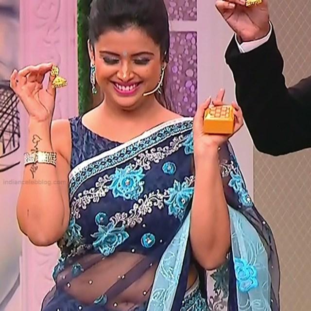 Shwetha Chengappa Kannada TV actress 6 hot saree photo
