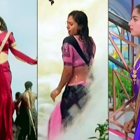 Soundarya sexy saree navel show telugu movie caps