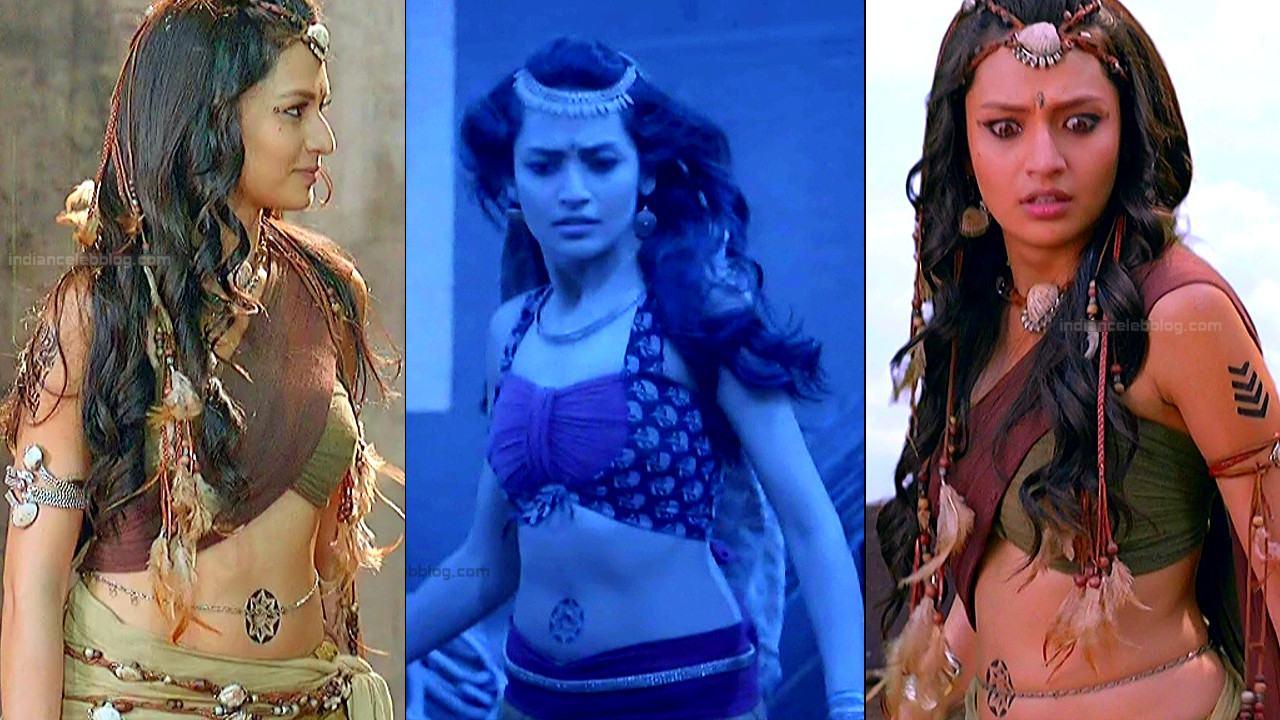 Suhani Dhanki sexy navel n backless caps - Porus tv serial