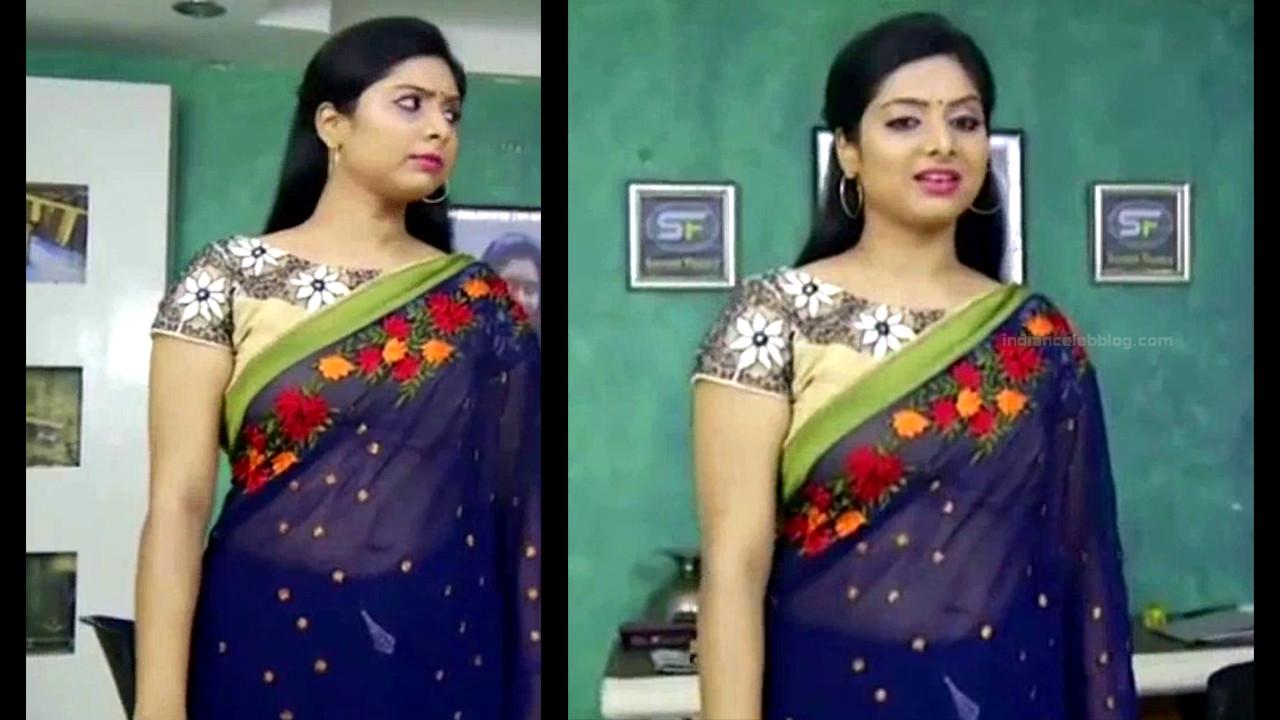 Syamantha Kiran Tamil tv actress Saravanan MS1 13 hot saree pics