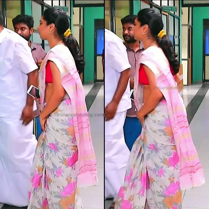 Syamantha Kiran Tamil tv actress Saravanan MS1 8 hot sari caps