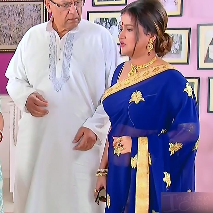 Bengali TV serial actress CompGS1 8 hot saree photo