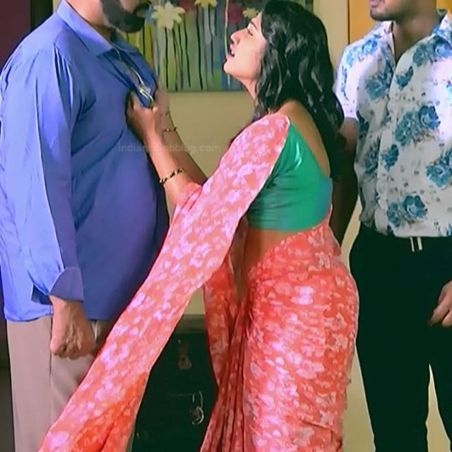 Chandana Raghavendra Kannada tv actress Sindoora S3 5 hot saree photo