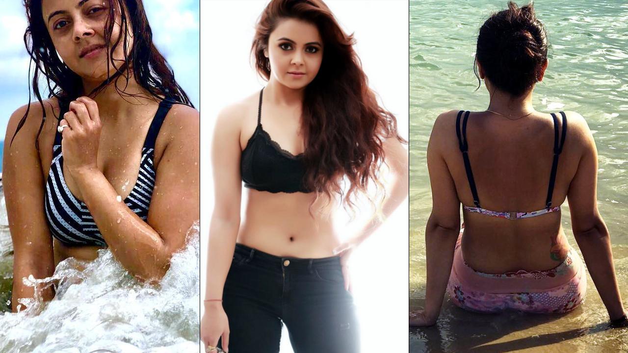 Devoleena Bhattacharjee hot Swimsuit Bikini Photos