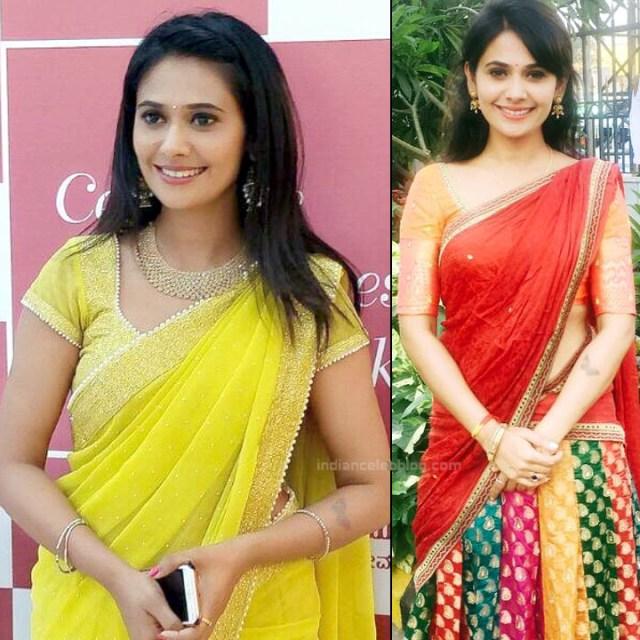 Kavya Gowda Kannada TV actress 7 hot saree pics