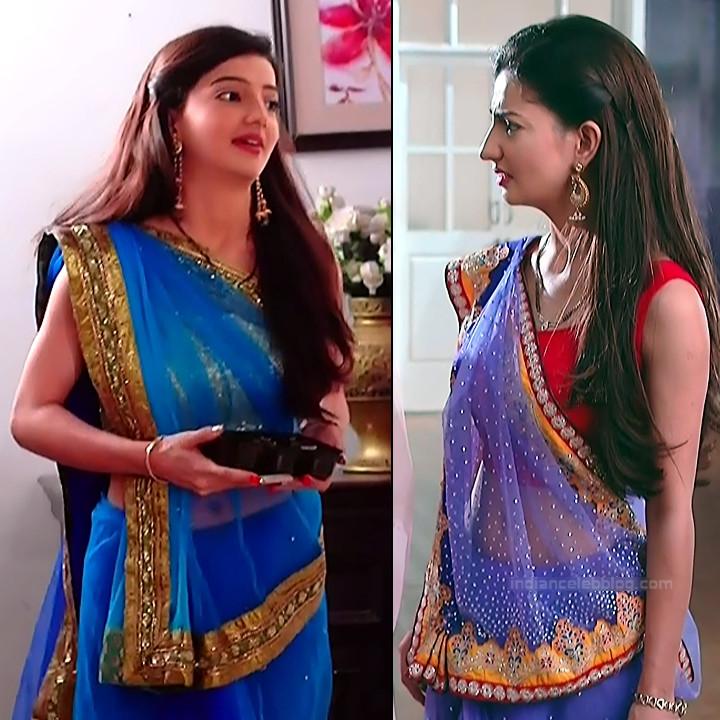Lovey sasan hindi tv actress Saath NSS1 3 hot saree caps