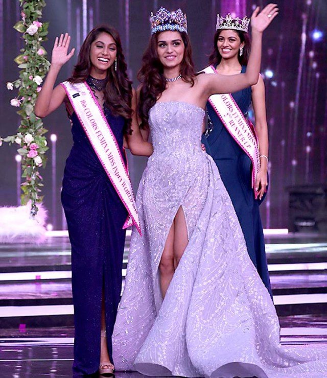 Manushi Chhillar Anukreethy Vas at Miss world 2018 Final 4