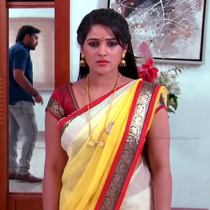 Monisha telugu tv actress Nandhini VNS1 1 hot saree photo