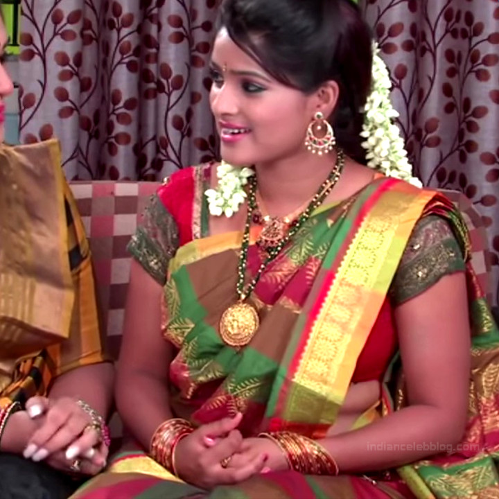Monisha telugu tv actress Nandhini VNS1 10 hot saree photo