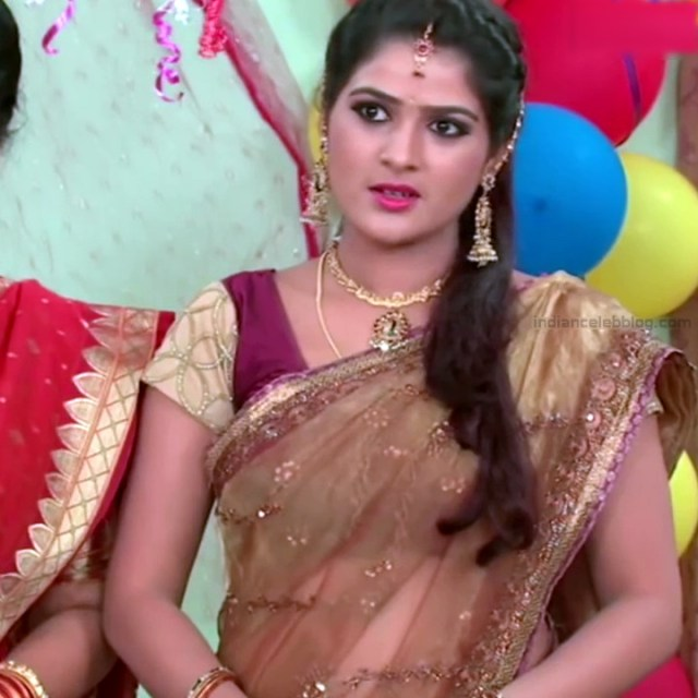 Monisha telugu tv actress Nandhini VNS1 25 hot transparent saree photo