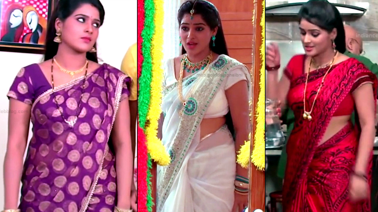 Monisha telugu tv actress Nandhini VNS1 29 hot saree photo