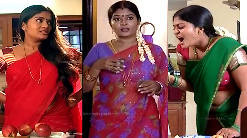 Neepa tamil tv actress sexy saree navel show Caps