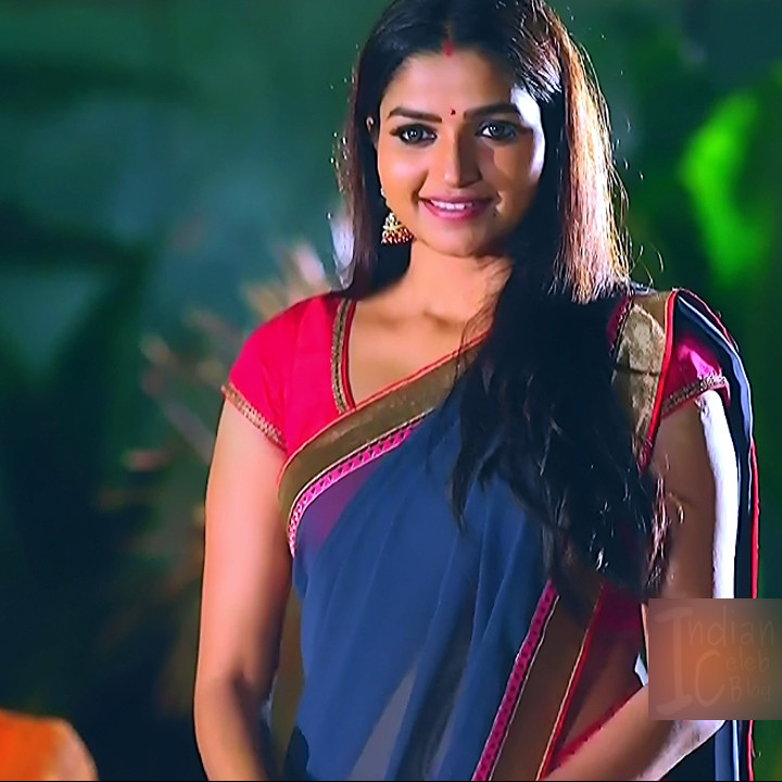 Nithya ram Tamil tv actress Nandhini S1 1 hot saree photo