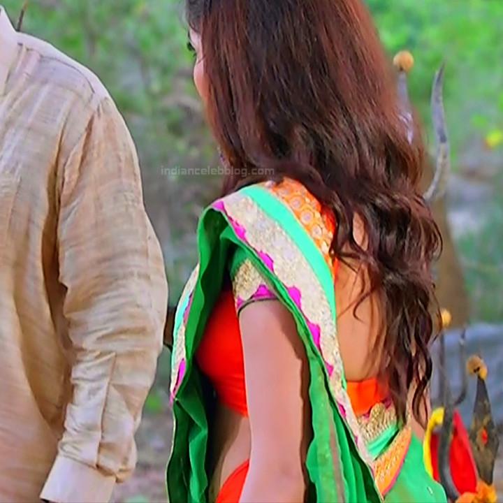 Nithya ram Tamil tv actress Nandhini S1 15 hot saree photo