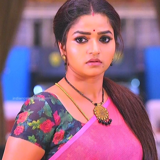Nithya ram Tamil tv actress Nandhini S1 18 hot saree photo