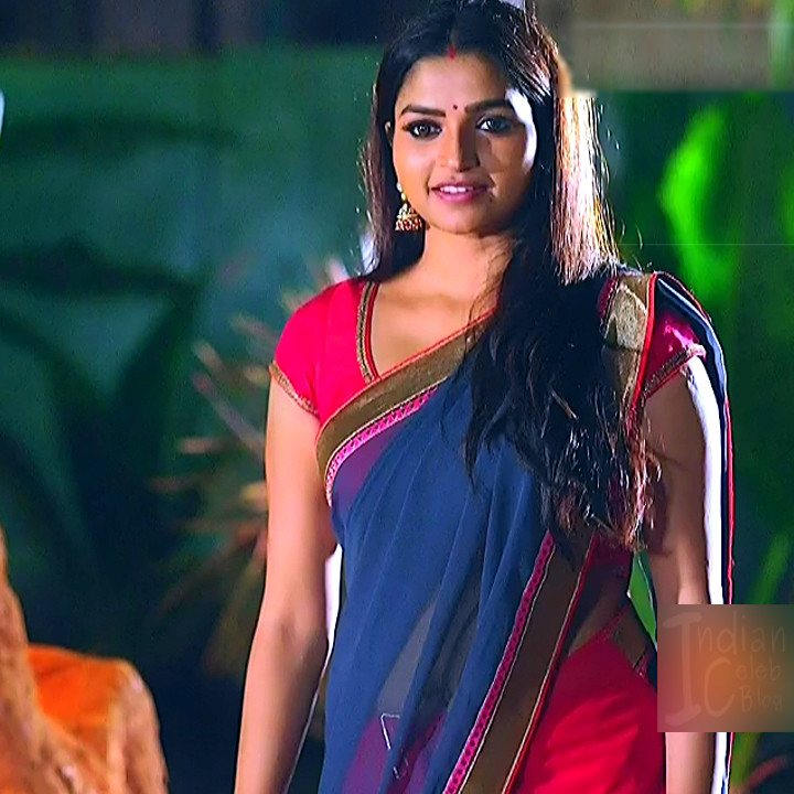 Nithya ram Tamil tv actress Nandhini S1 2 hot saree photo