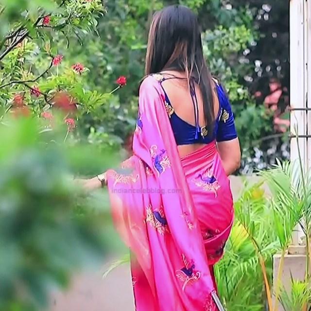 Shwetha R Prasad Kannada TV actress Radha RS1 16 Saree photo