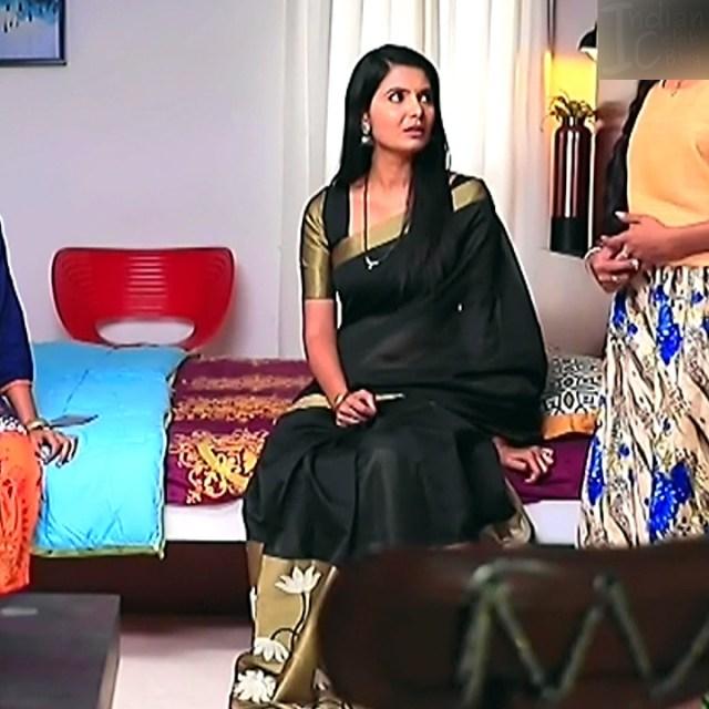 Shwetha R Prasad Kannada TV actress Radha RS1 20 Saree photo