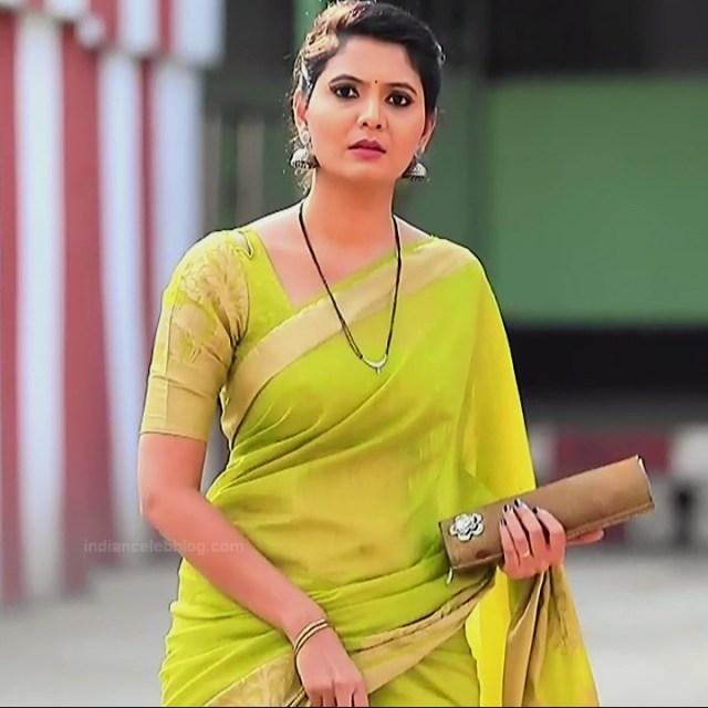 Shwetha R Prasad Kannada TV actress Radha RS1 9 Sari photo