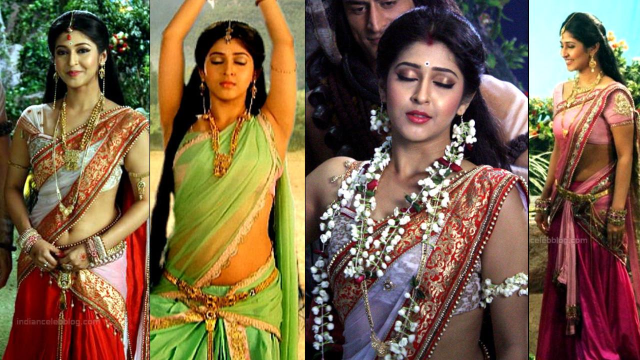 Sonarika Bhadoria sexy sleeveless saree Devon ke dev caps