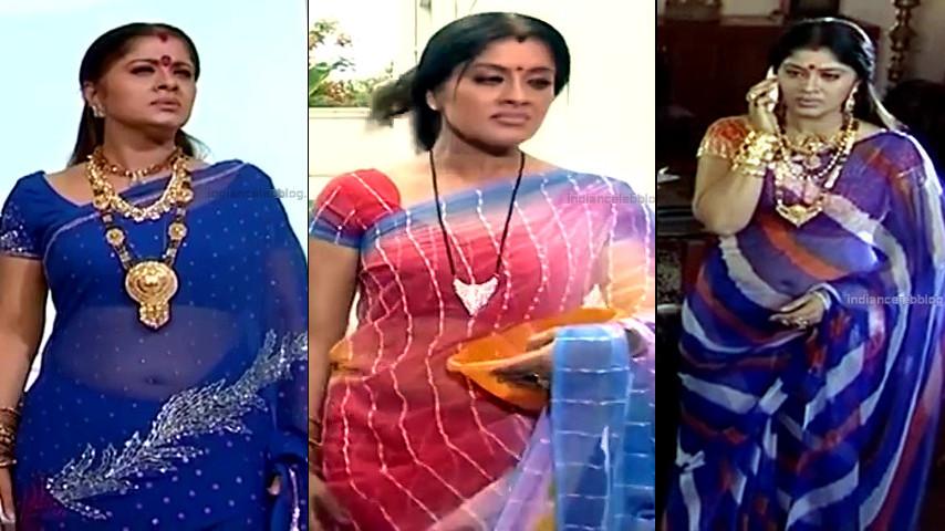 Sudha Chandran hot transparent sari navel show