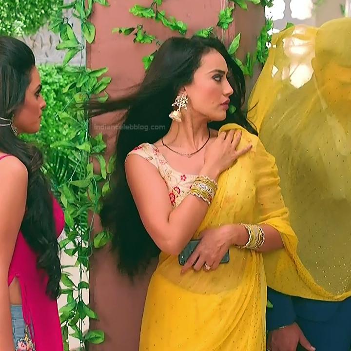 Surbhi Jyoti Sexy Saree Navel Show Naagin 3 Hd Tv Caps  Indian Telly Show-5889