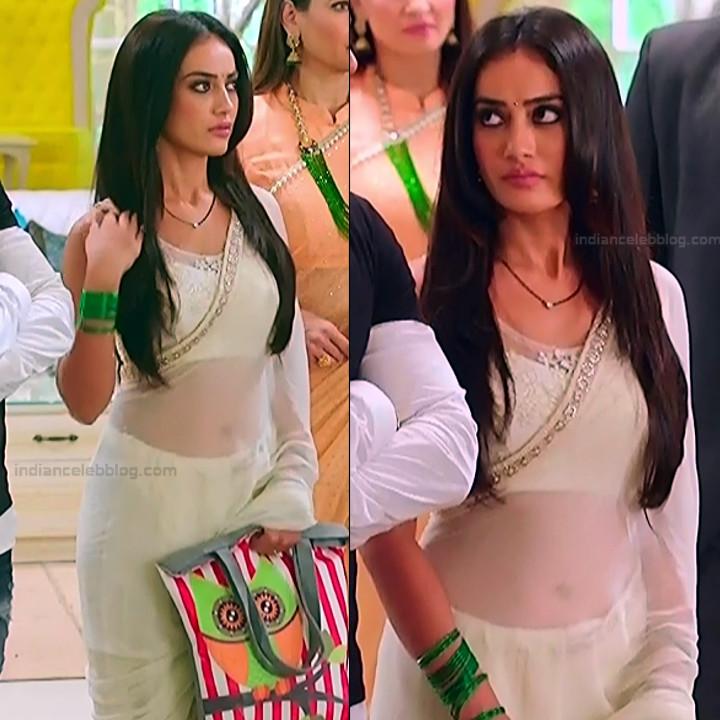 Surbhi Jyoti Hindi TV Actress Naagin 3S2 26 hot saree navel pics