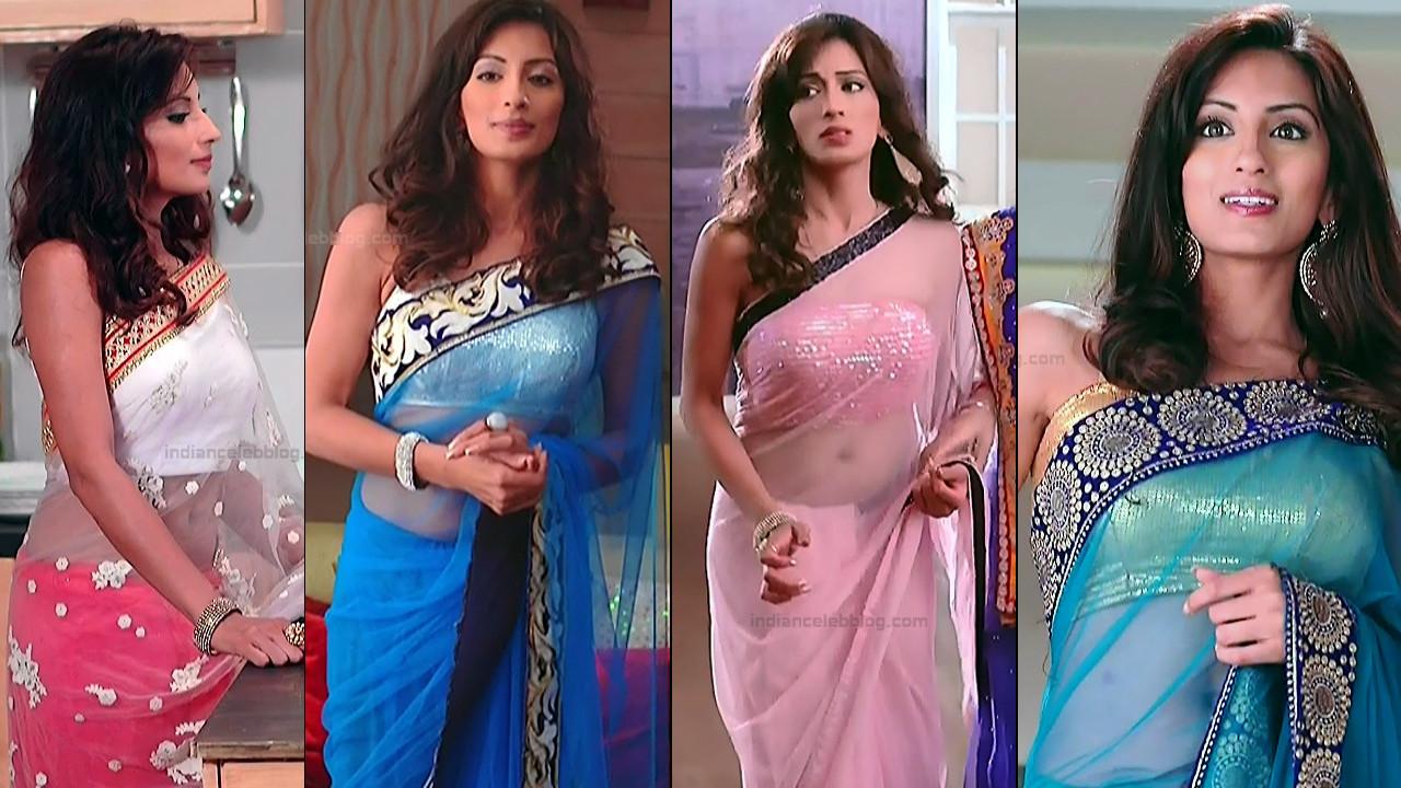 Uppekha jain Navel show in Low waist saree HD tv caps