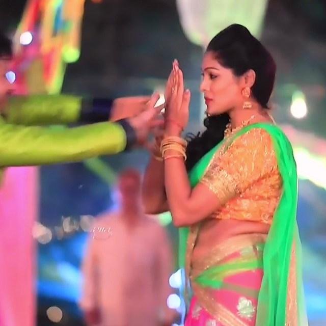Anu Chinnappa kannada tv actess Muddu LS1 11 sari photo