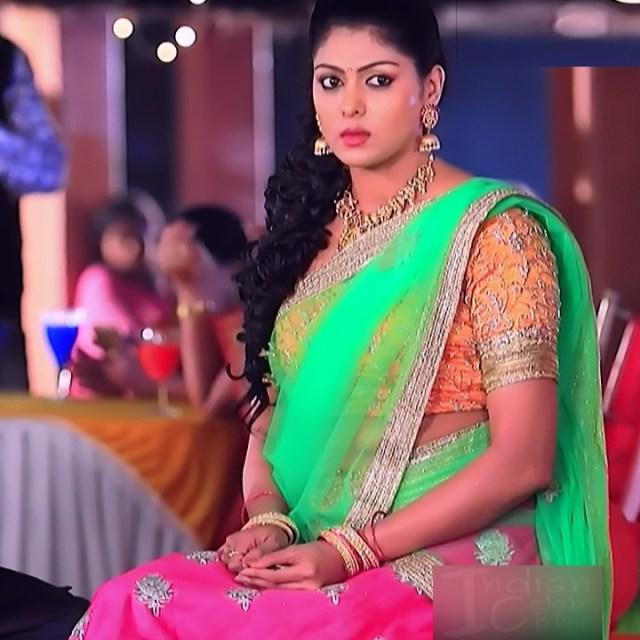 Anu Chinnappa kannada tv actess Muddu LS1 3 saree photo