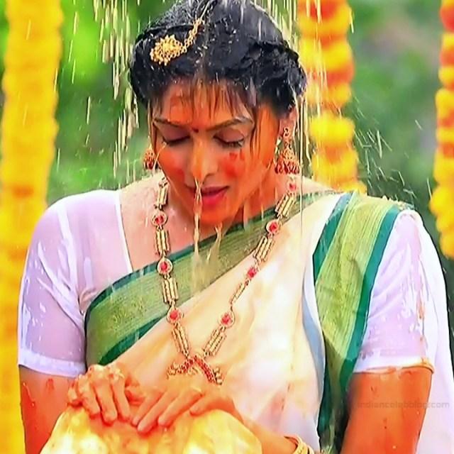 Anu Poovamma kannada tv actess Muddu LS1 10 sari photo