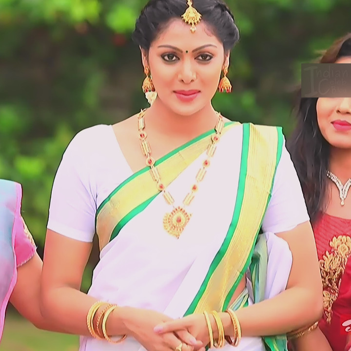 Anu Poovamma kannada tv actess Muddu LS1 9 sari photo