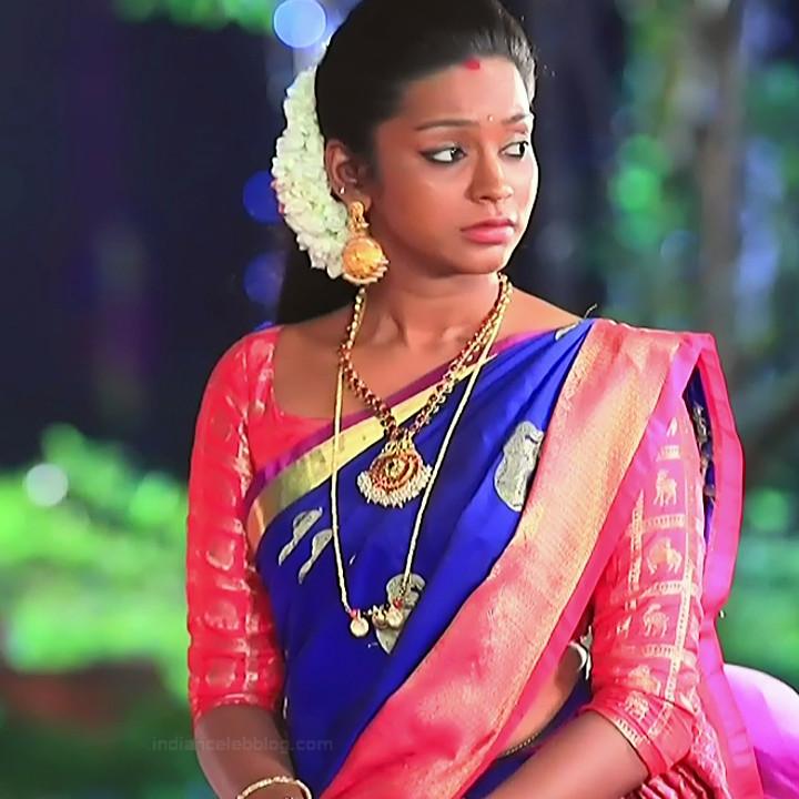 Ashwini Kannada TV actress Muddu LS1 10 saree caps