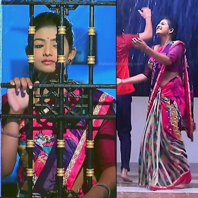 Bhoomi Shetty tv actress Kinnari S3 18 hot saree caps