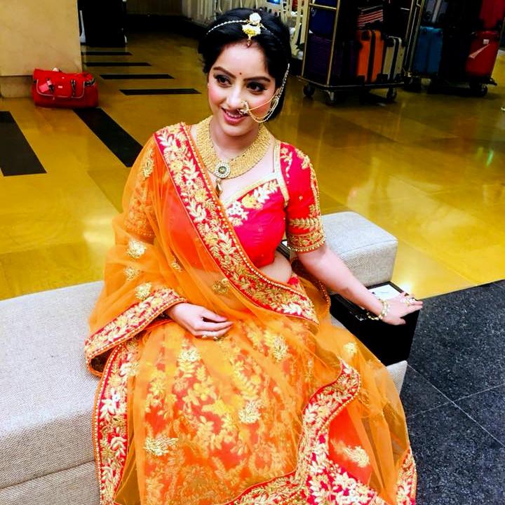 Deepika Singh Hindi TV actress event S1 8 hot lehenga photo