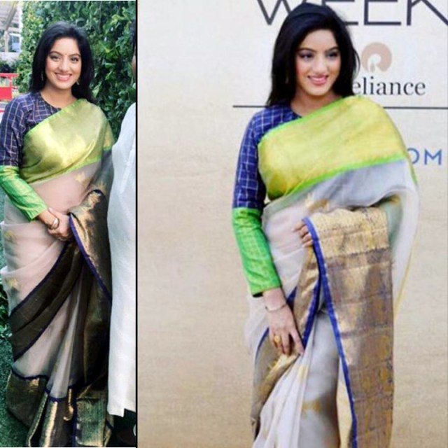 Deepika Singh Hindi TV actress event S1 9 saree pics