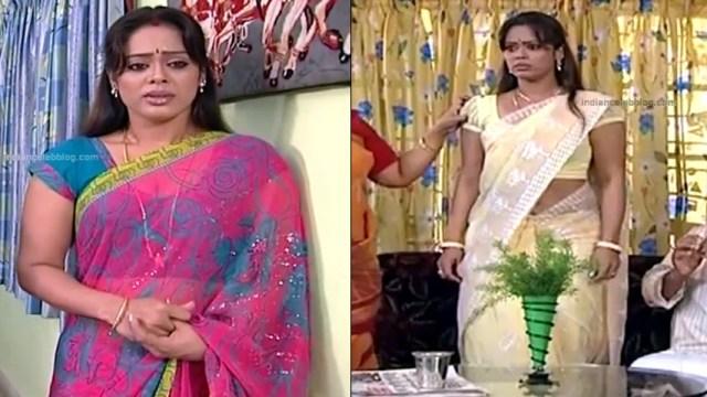 Devipriya tamil tv actress Pondatti TS1 6 hot saree caps