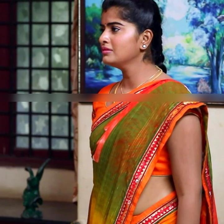 Keerthana podwal tamil tv actress ganga S1 11 hot sari photo