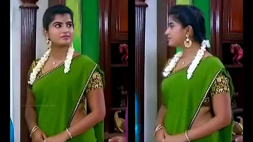 Keerthana podwal tamil tv actress ganga S1 15 hot saree pics