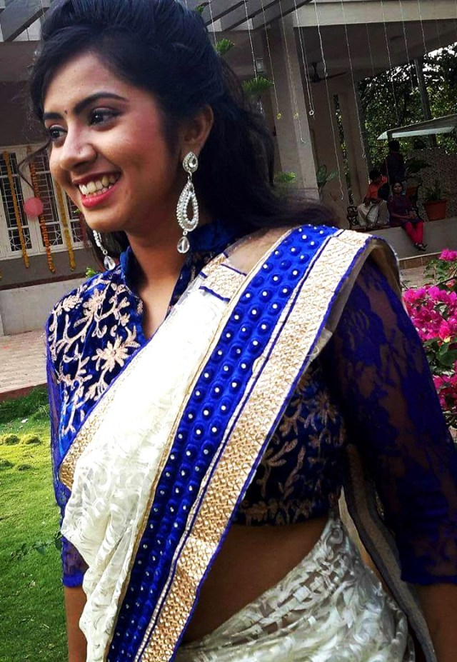 Lasya Nagaraj Kannada actress CTS2 16 hot saree photo