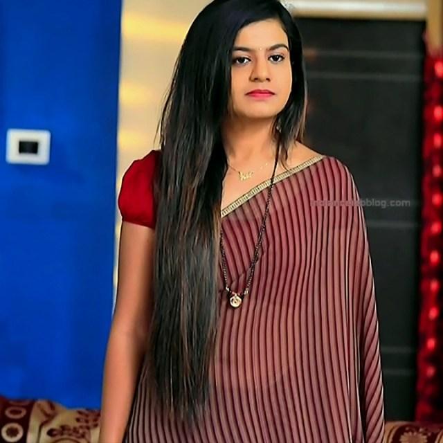 Namratha gowda kannada tv actress Putta GMS1 7 hot saree photo