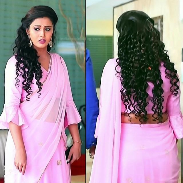 Neha Gowda Kannada tv actress Lakshmi BS1 1 hot saree pics