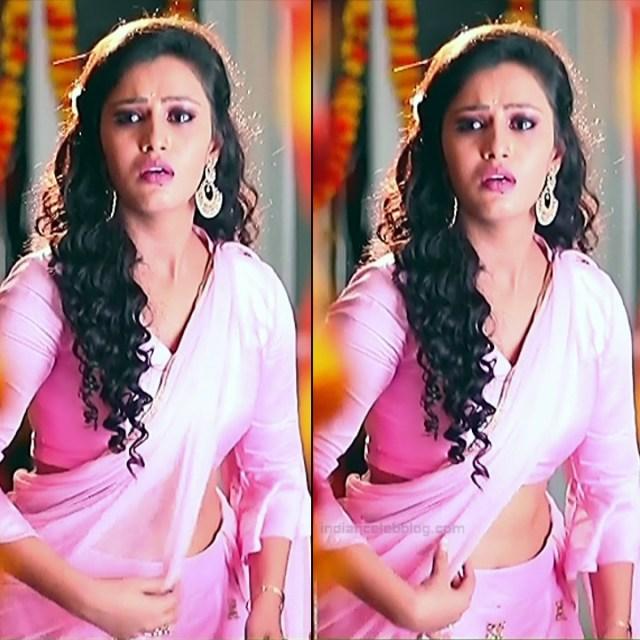 Neha Gowda Kannada tv actress Lakshmi BS1 13 hot saree pics