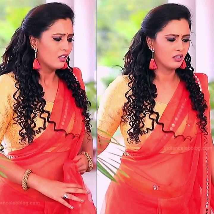 Neha Gowda Kannada tv actress Lakshmi BS1 16 hot saree navel pics